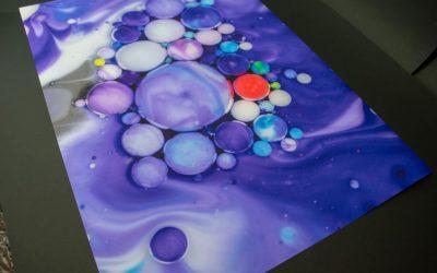 Poster paper bubbles art