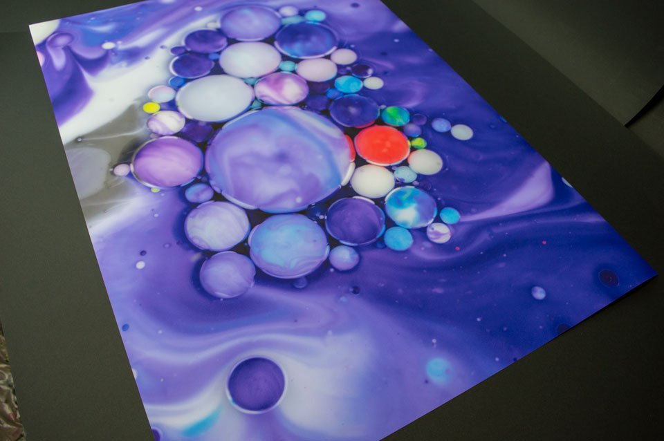 Poster paper bubbles art
