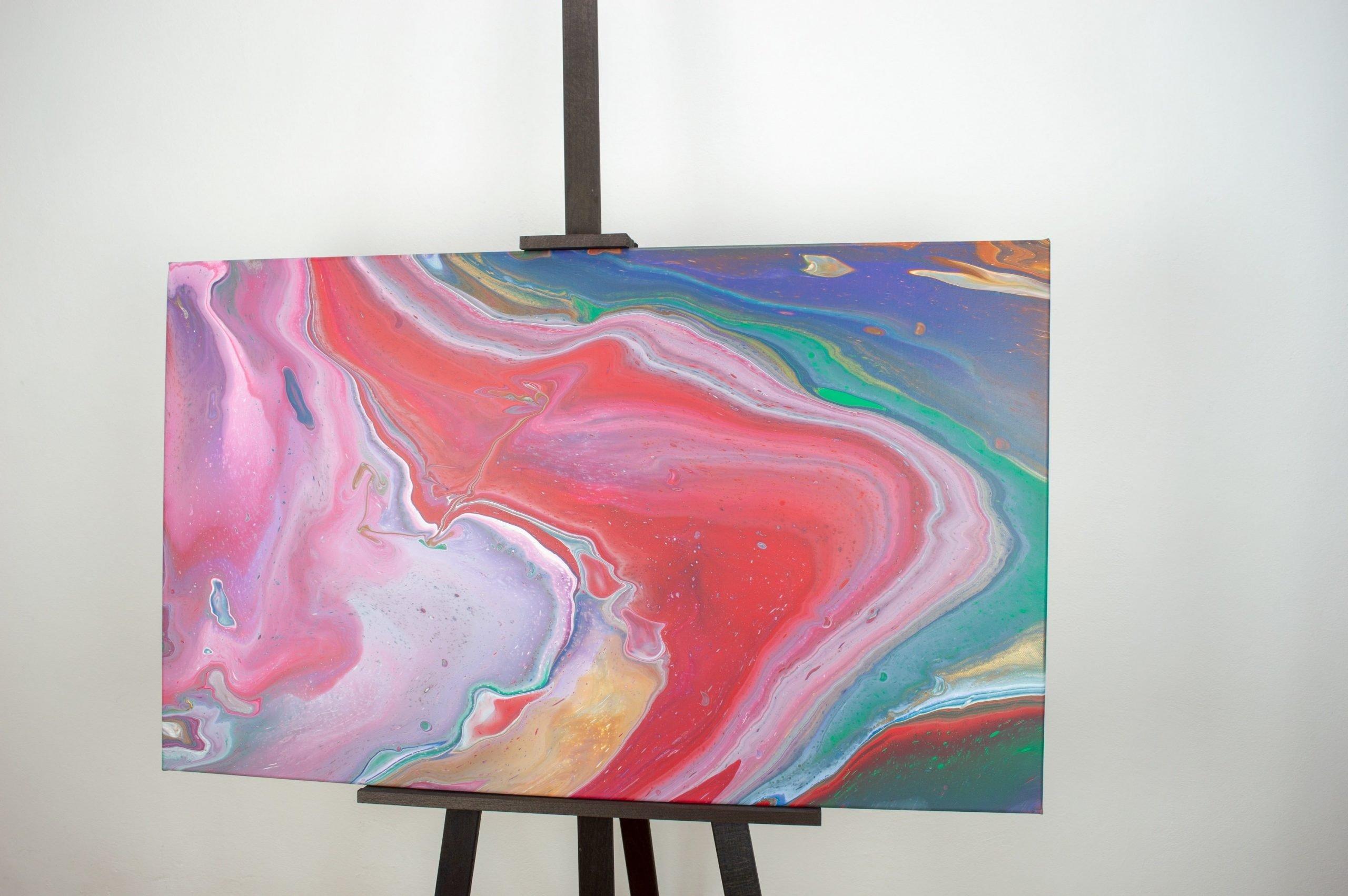 Abstract Art painting meerschaum 100cm x 60cm