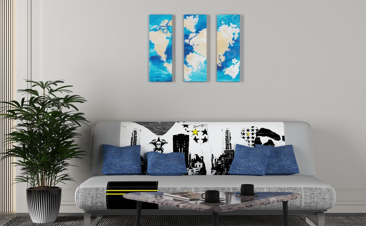 Abstract Art Another-time,different-world-on-canvas pack