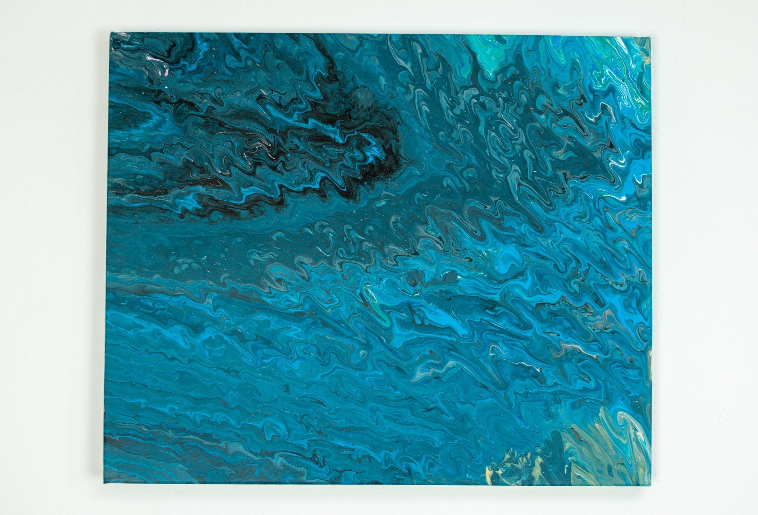 Abstract Art black and blue perspective