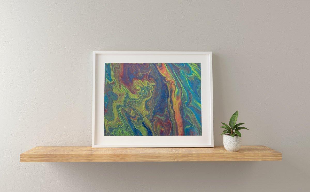 Abstract Art Green dragon