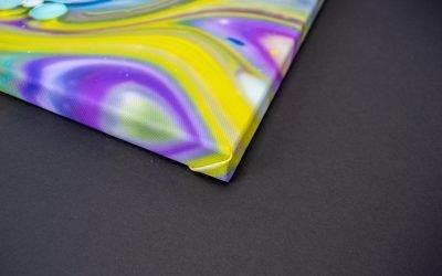 Canvas prints, bubbles art