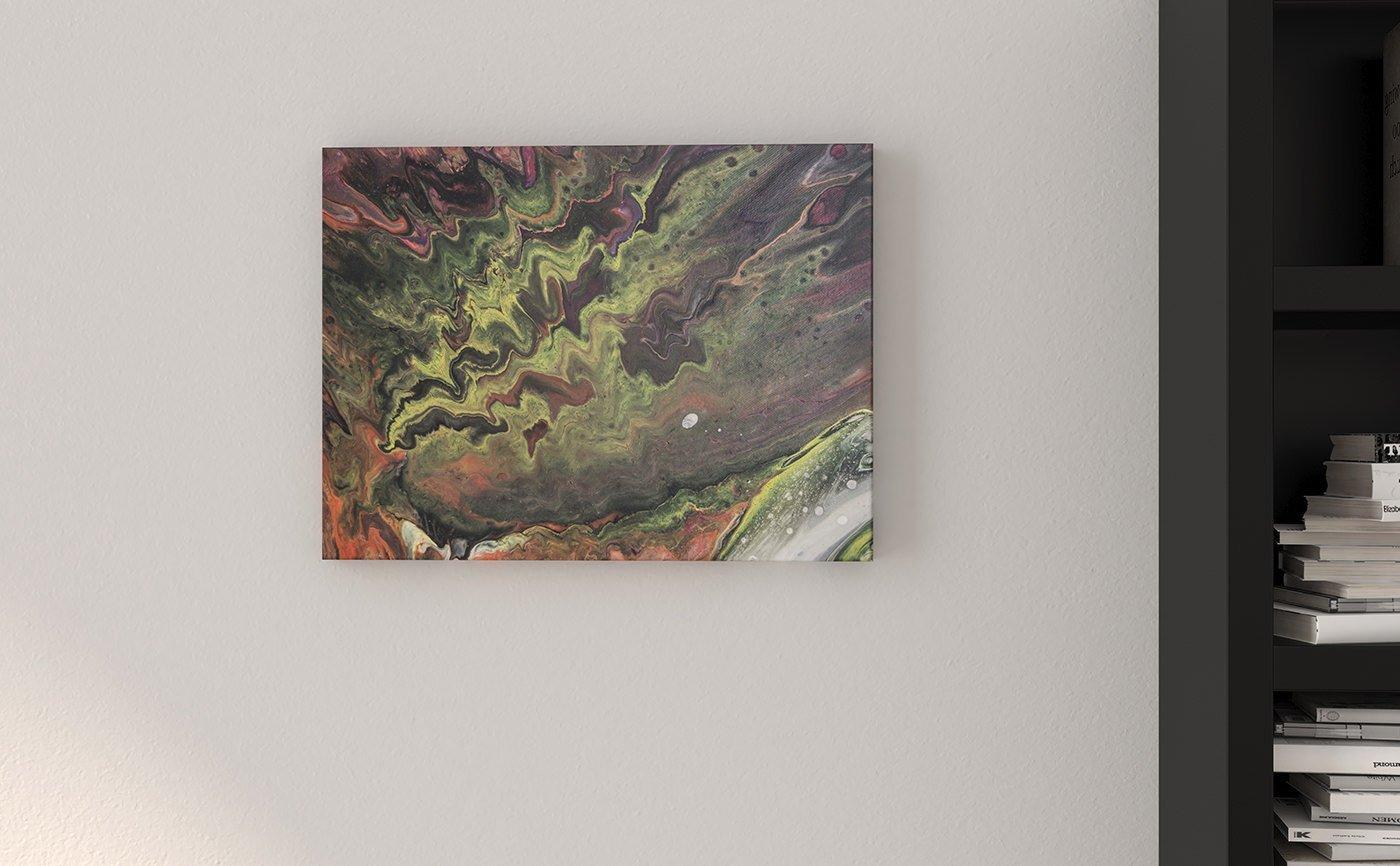 Abstract Art Fallen out in heartbreak canvas
