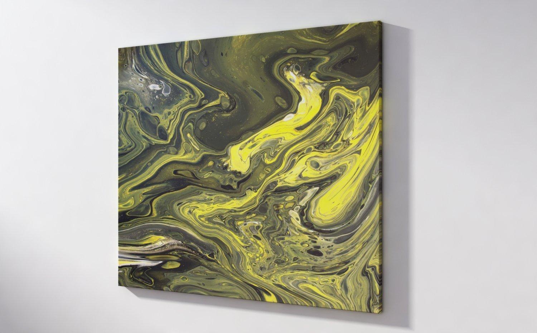 Abstract Art Golden strands