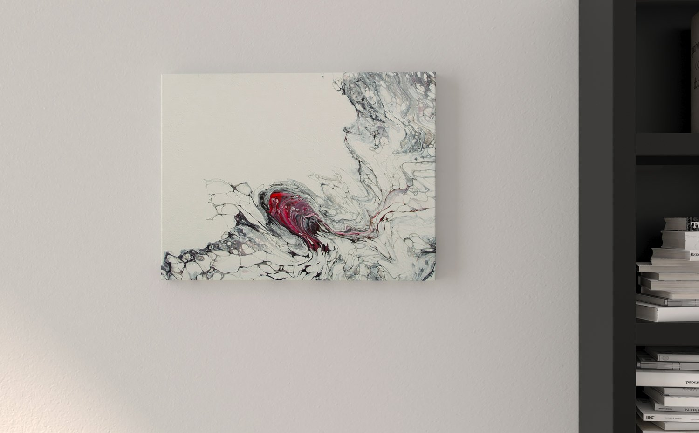 Abstract Art Heart on original canvas