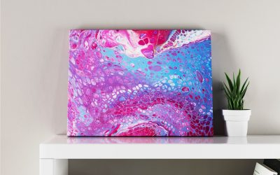 Abstract Art Octopus on canvas
