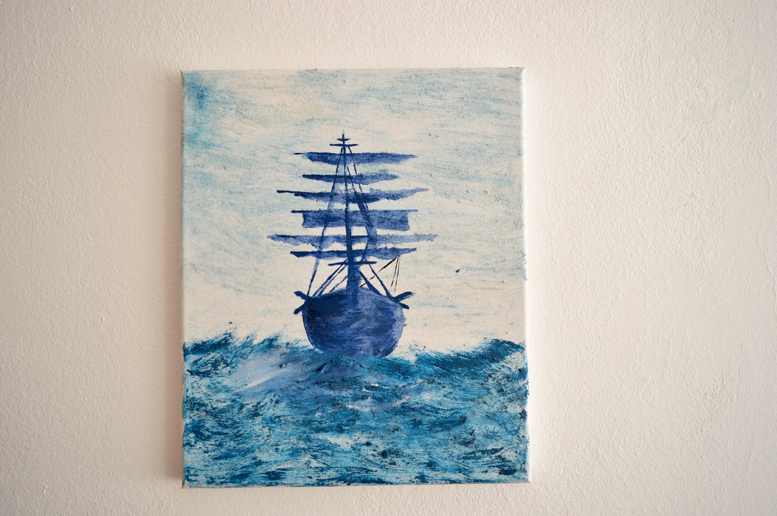 Drawing black ship