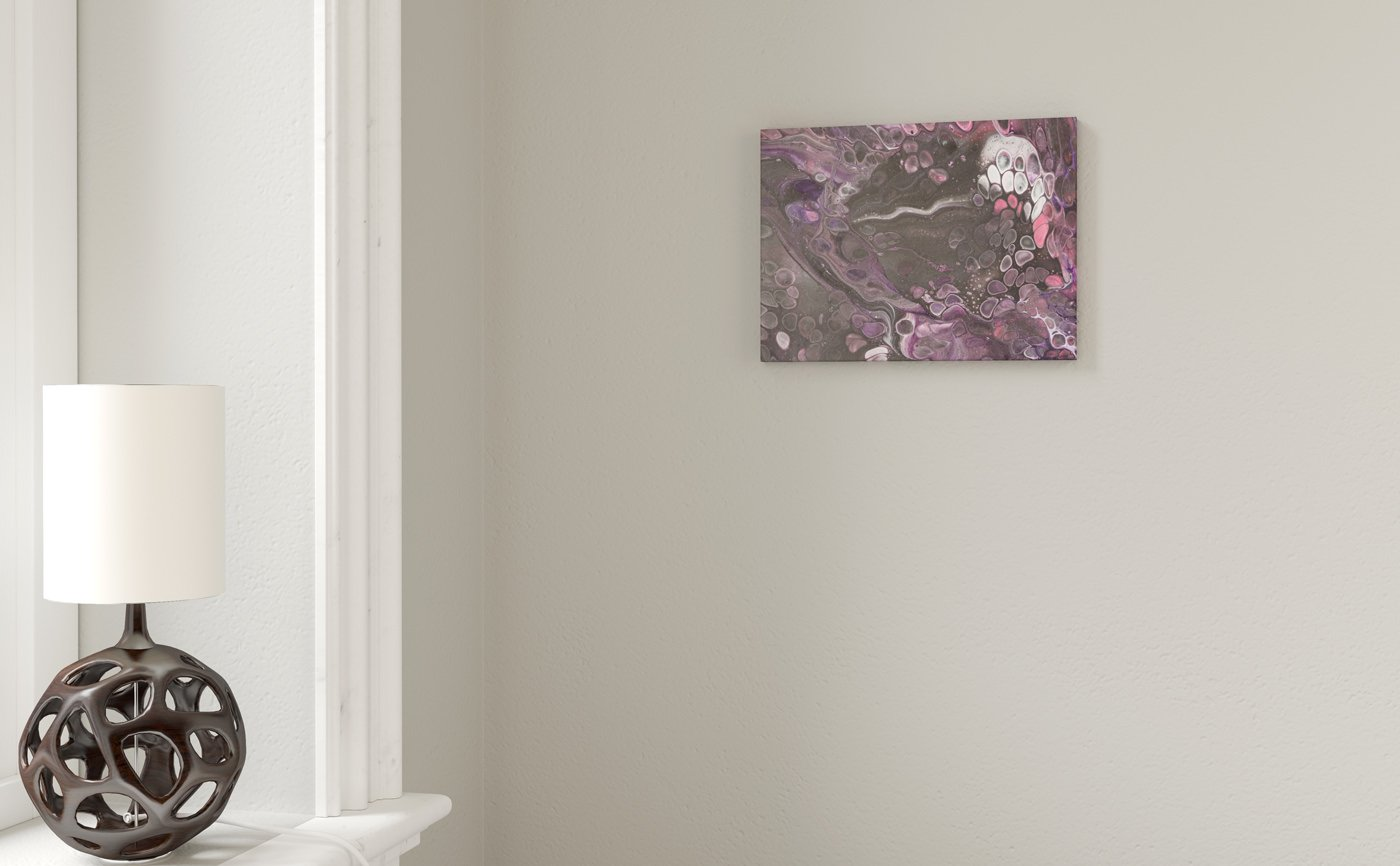 Abstract Art Purple jellyfish at dawn on canvas