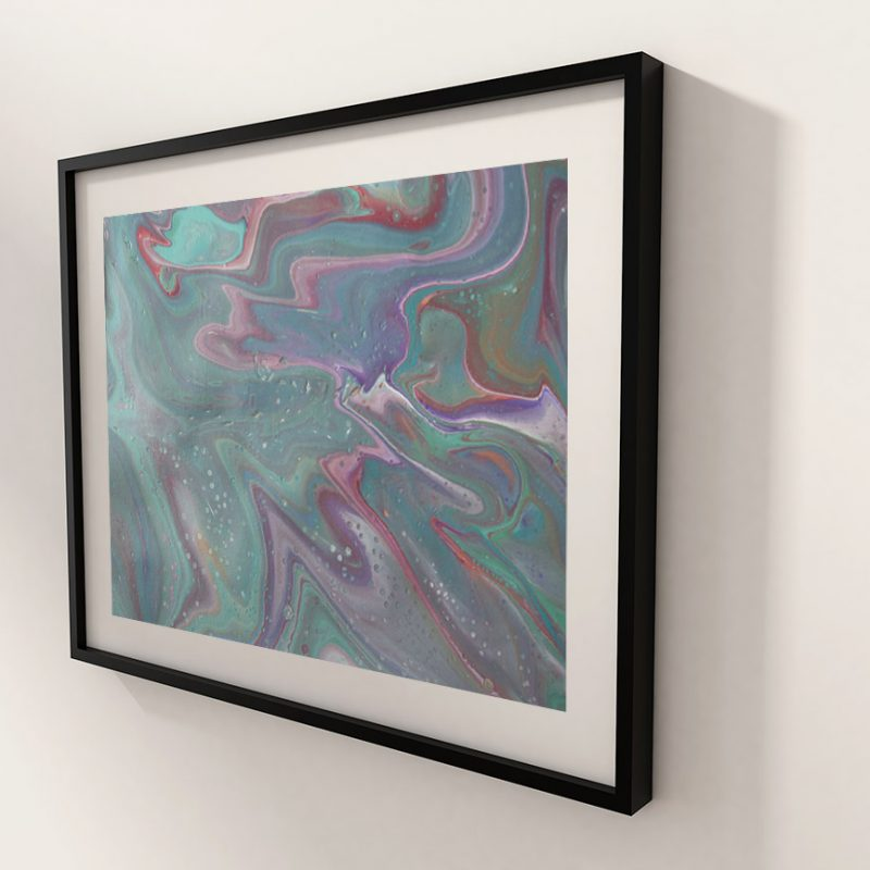 Abstract art satin breeze