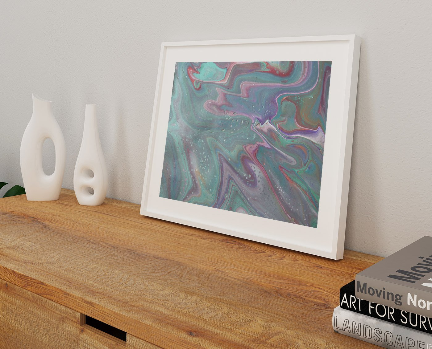Abstract art satin breeze