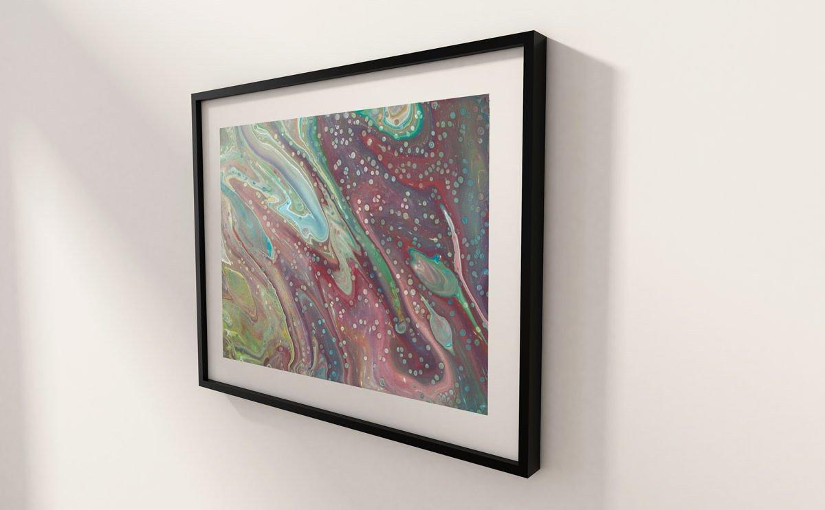 Peacock abstract art