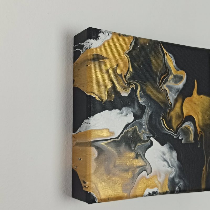 Abstract Art Black Gold on original canvas 3D Canvas