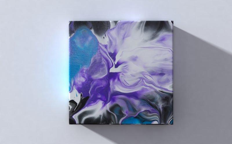 Abstract Art Flower on original canvas 3D Canvas