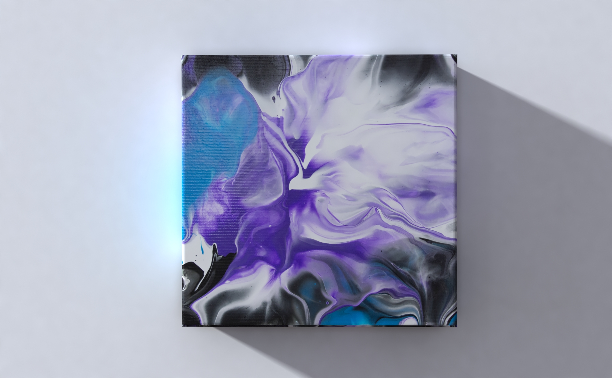 Abstract Art Flower on original canvas 3D Canvas