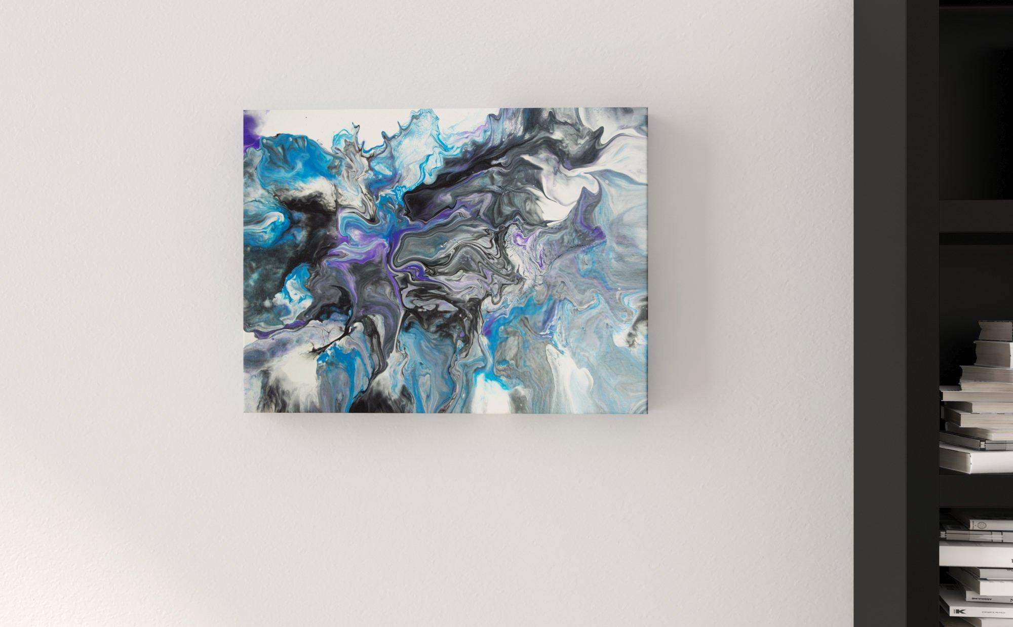Abstract Art Fog 3D canvas