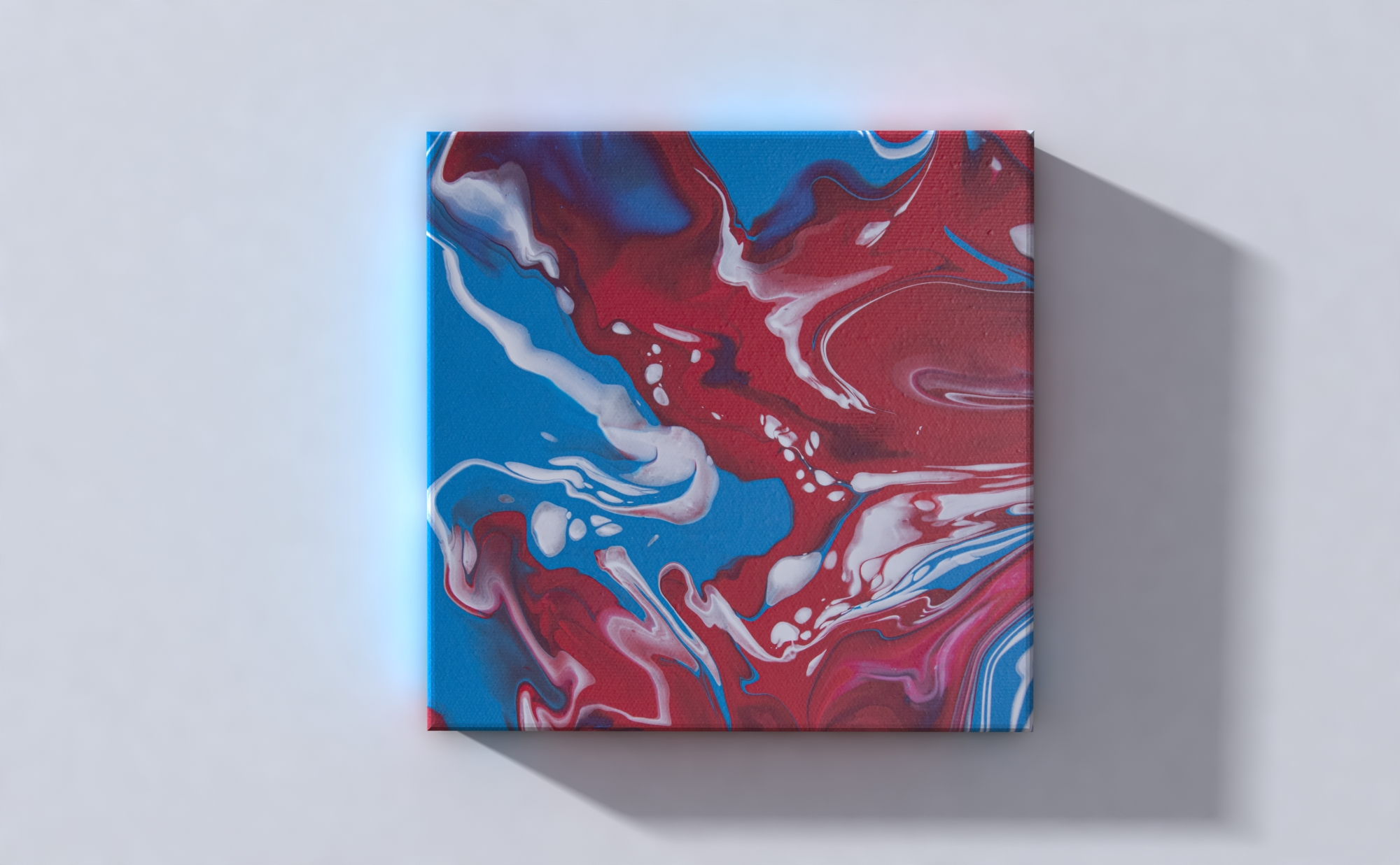 Abstract Art Red River on canvas