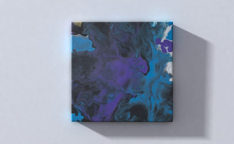 Abstract Art River on canvas