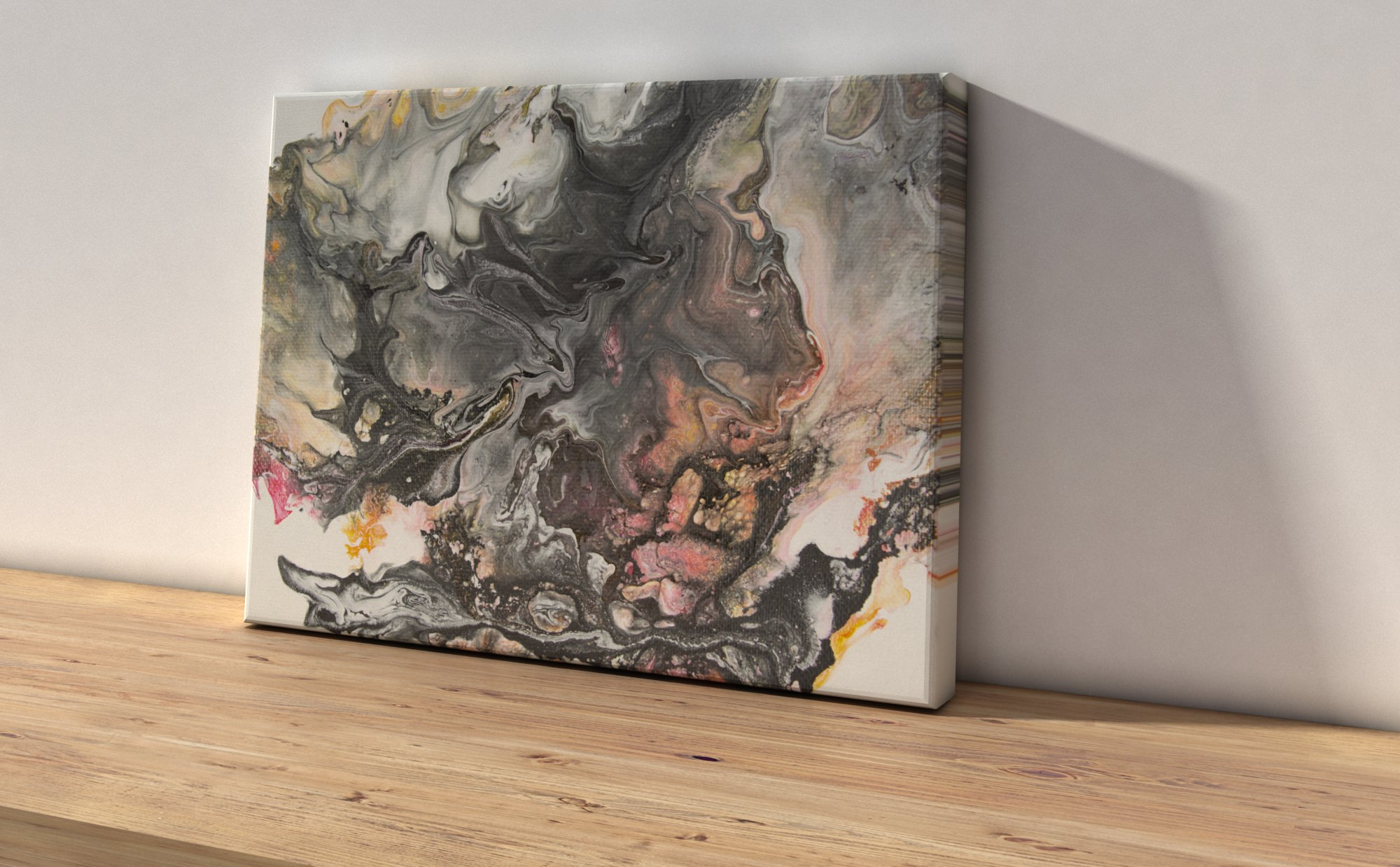 Abstract Art Shadow on original canvas