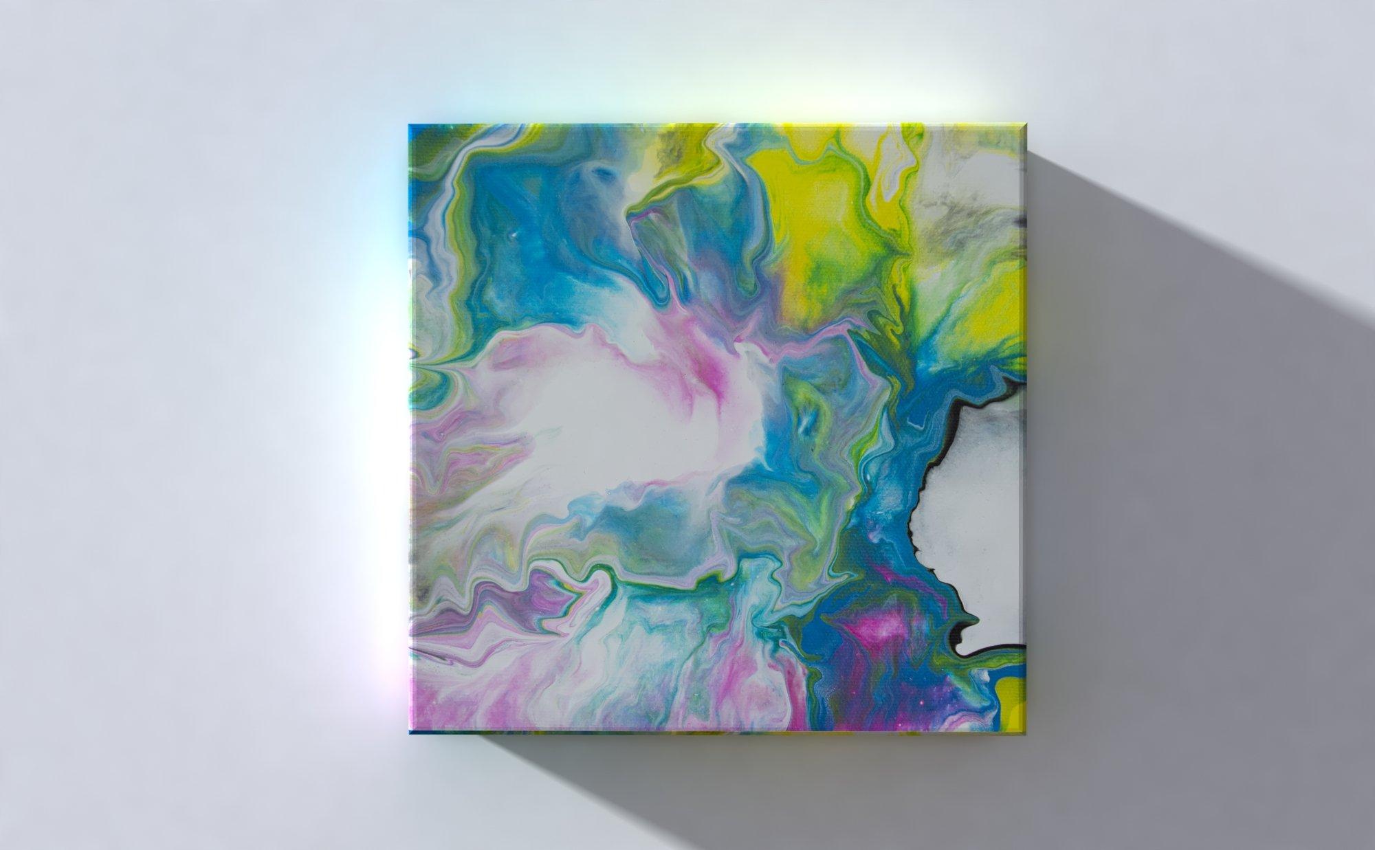 Abstract Art Sun on original canvas 3D Canvas