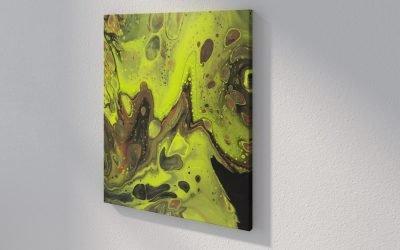 Abstract Art Tear on canvas