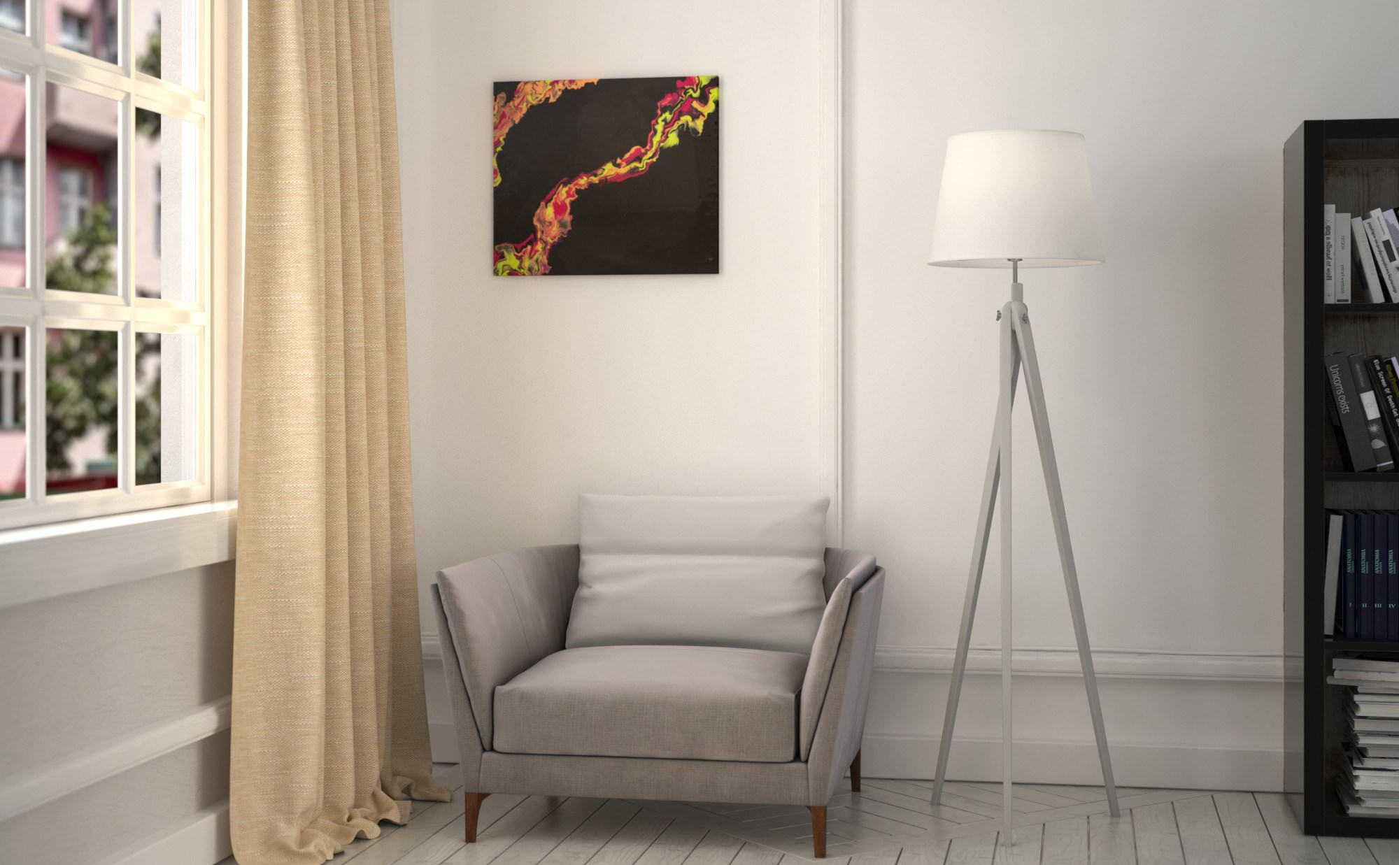 Abstract Art Touch on canvas